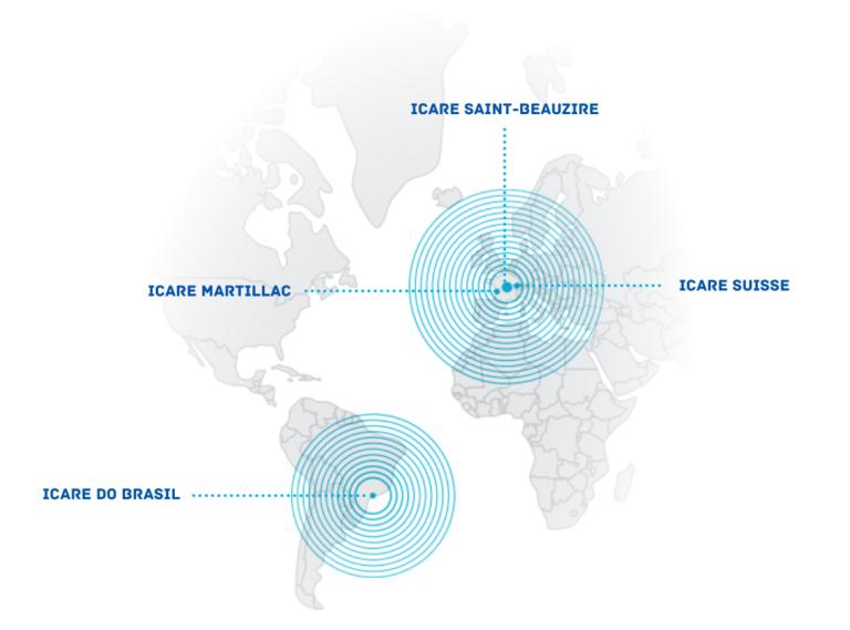 Carte du monde Icare